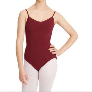 Capezio Burgundy Leotard with Cami - Large